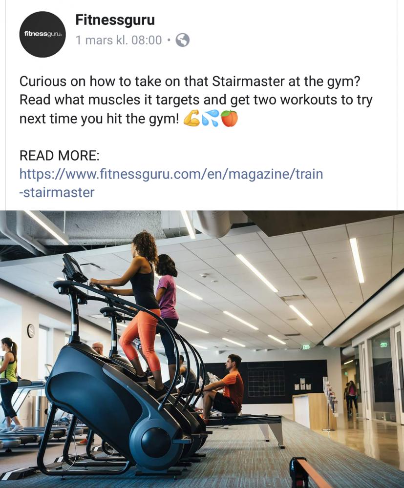 Nyligen publicerat på Fitnessguru - Stairmaster (eng)