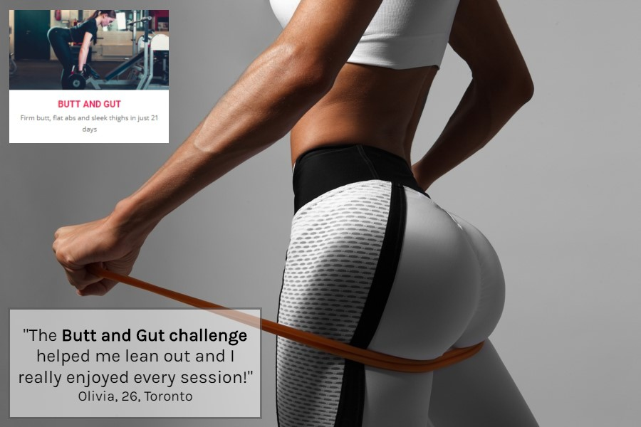 Butt and Gut ONLINE Fitness challenge