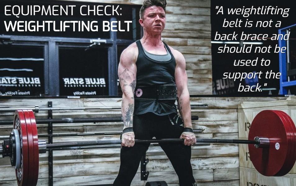 Equipment check - Weightlifting belt