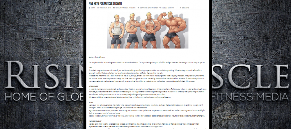 Five keys for muscle growth