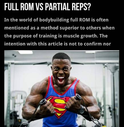 Full ROM vs Partial reps?